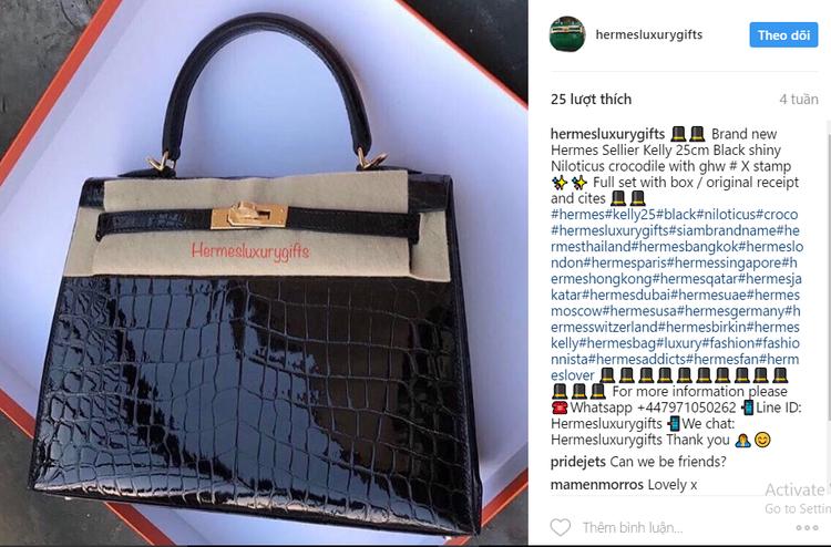 Và đây là hình ảnh được tài khoản có tên hermesluxurygifts đăng tải trên Instagram chỉ khác nhau ở dòng chữ.