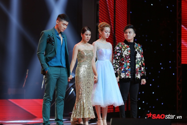 Trong khi đó, Dương Thuận và Hiền Hồ là 2 cái tên an toàn của team Tóc Tiên.
