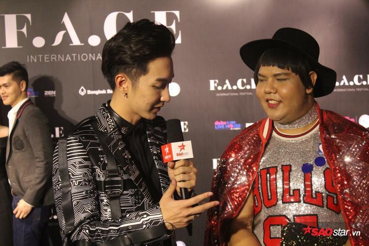 Anh chàng vô cùng tự tin với vai trò mới tại đêm chung kết The Face Thailand