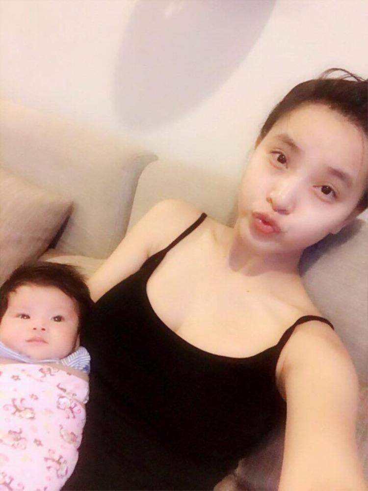 Hải Băng lần đầu chia sẻ hình ảnh lúc mang thai con gái đầu lòng