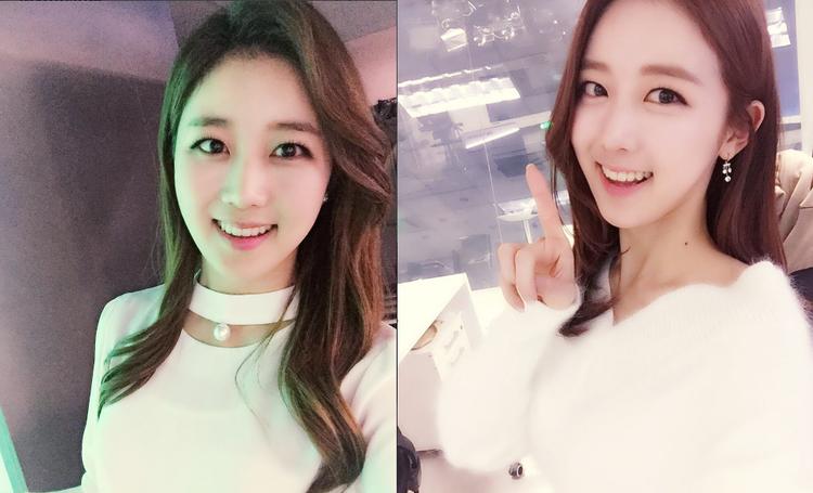 """Một """"bóng hồng"""" khác của đài KBS - Kim Ji Hyo, cô mang nét đẹp phúc hậu và hiền dịu với nụ cười tỏa nắng."""