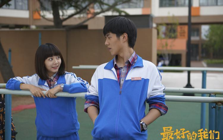 Đàm Tùng Vận cùng bạn diễn Lưu Hạo Nhiên đã tạo nên cơn sốt của thể loại phim học đường.