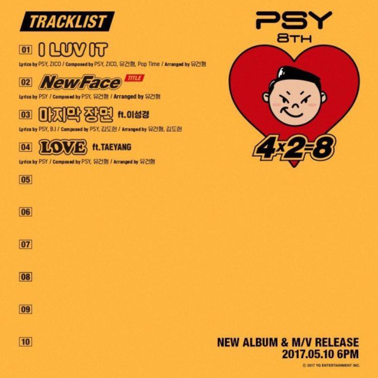 """Nếu như các nghệ sĩ Kpop thường khoe hình ảnh teaser lung linh thì PSY khác lạ """"nhá hàng"""" tên từng ca khúc."""