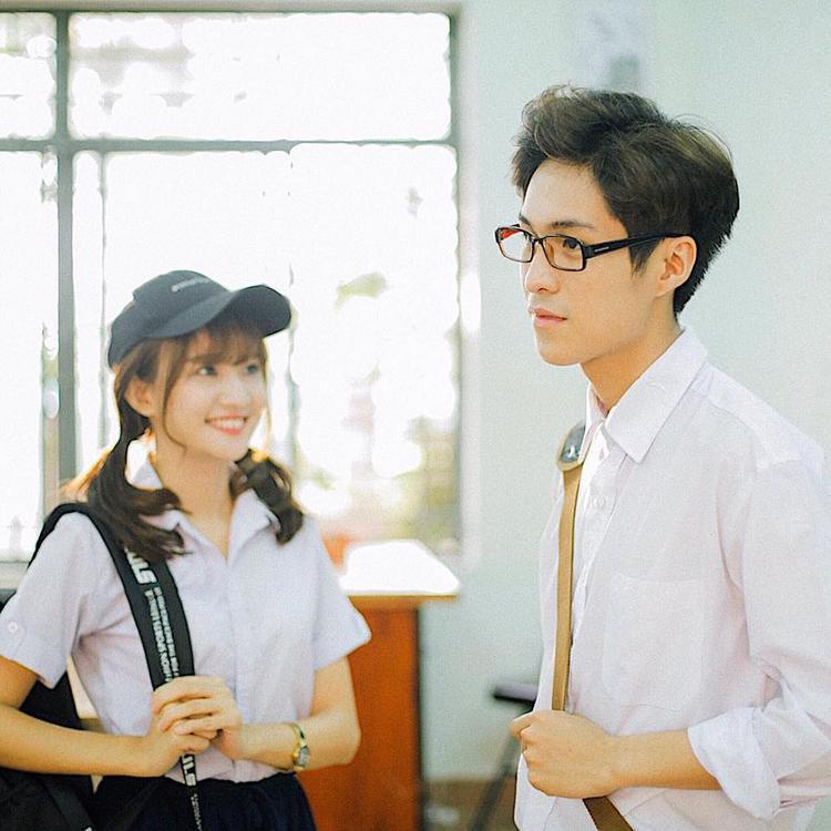 Thanh Vy cùng Đỗ Nhật Trường trong bộ phim Chàng trai của em.