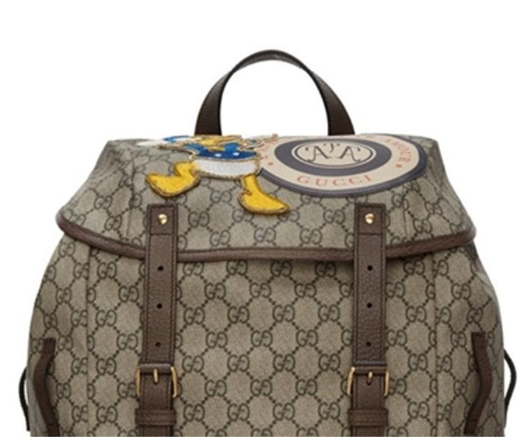 Xuất hiện trên ba lô của thương hiệu sang chảnh Gucci, một sự kết hợp vô cùng thú vị.