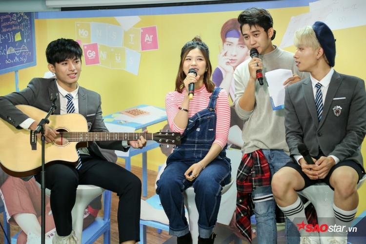 Suni Hạ Linh cũng không ngần ngại bật mí cô là fangirl của MONSTAR sau khi hát 1 đoạn nhỏ #BABYBABY.