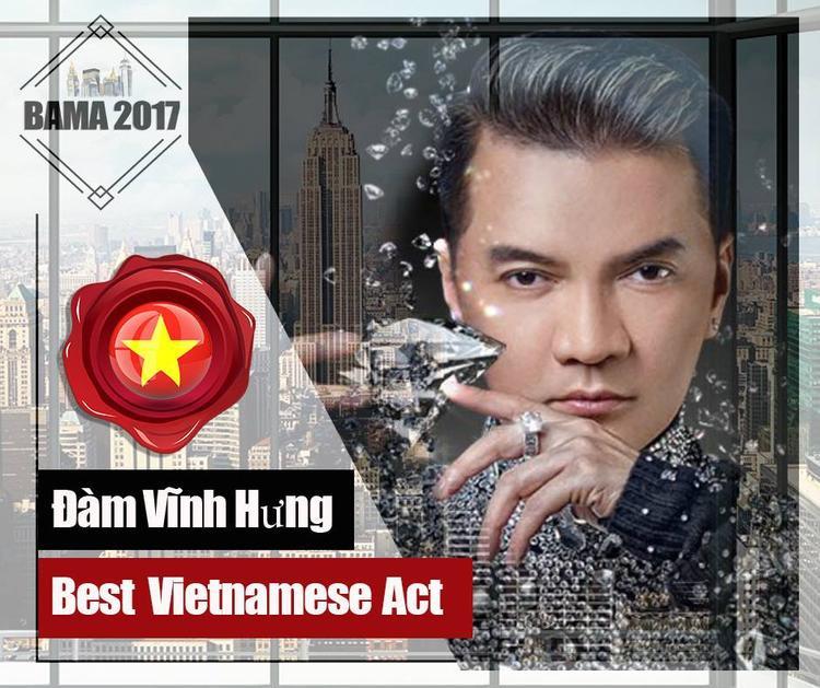 Đàm Vĩnh Hưng có tên trong danh sách đề cử Nghệ sĩ Việt Nam xuất sắc nhất.