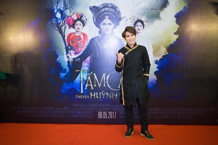 Huỳnh Lập trong buổi ra mắt phimTấm Cám: Chuyện Huỳnh Lập kể.