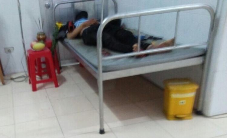 Anh Lượng tử vong ngay tại trạm y tế xã. Ảnh: Báo Pháp Luật Việt Nam