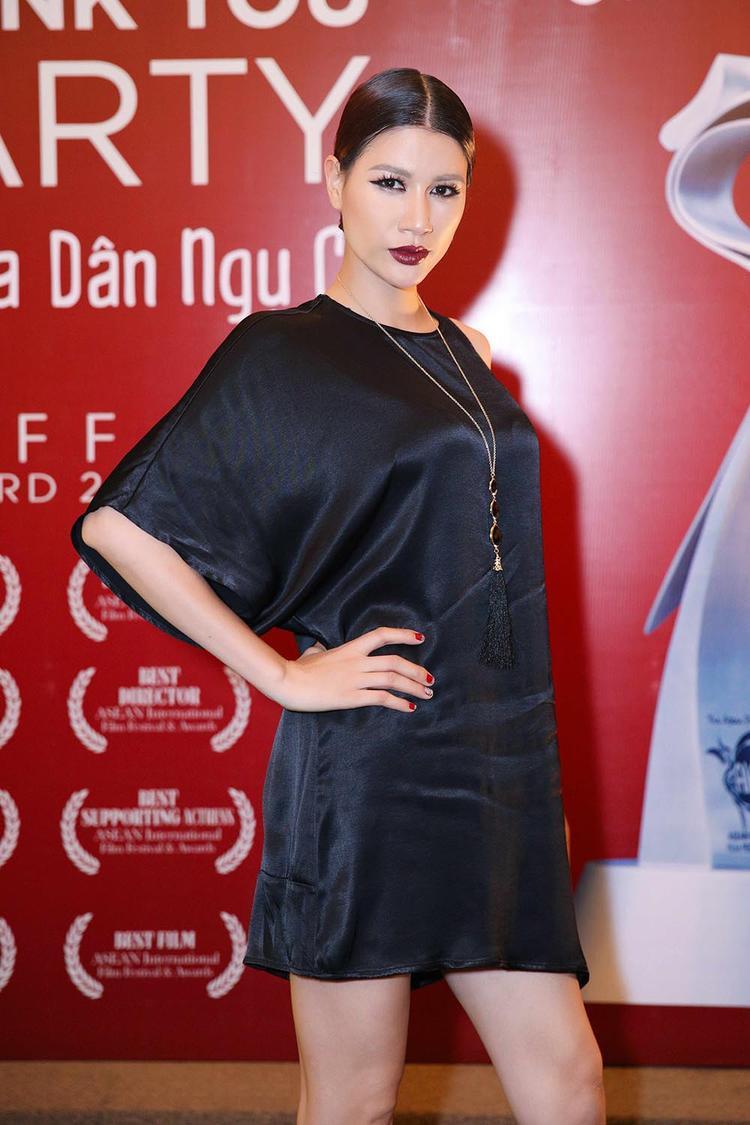 Đây là sự kiện hiếm hoi có sự xuất hiện của người mẫu Trang Trần.