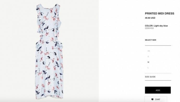 Zara với mức giá khoảng 1 triệu đồng, bạn có thể tới địa chỉ Vicom Đồng Khởi 42 Trần Thánh Tôn TP. Hồ Chí Minh hoặc đặt mua trên website của thương hiệu này.
