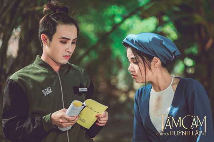 Hình ảnh Huỳnh Lập trong hậu trường phim.