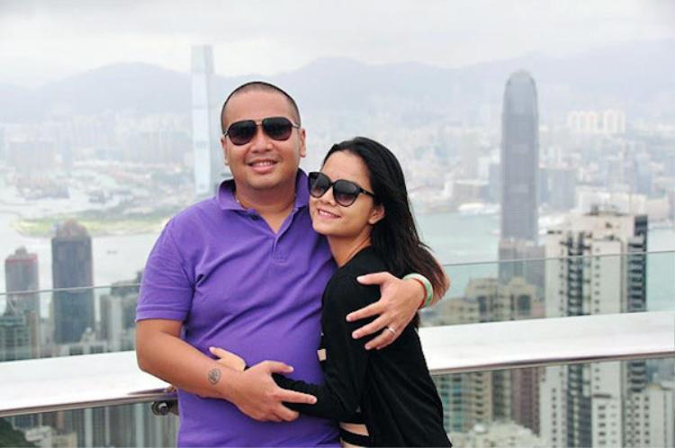 Vợ chồng Phạm Quỳnh Anh - Quang Huy.