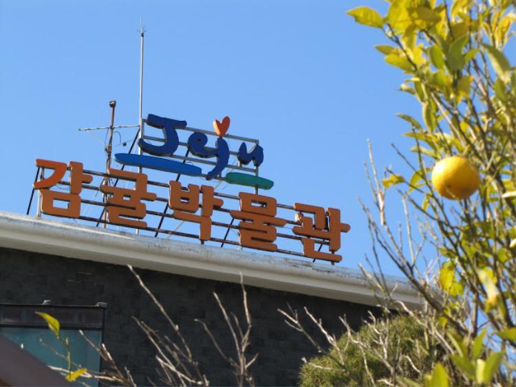Bên ngoài bảo tàng Citrus ở đảo Jeju