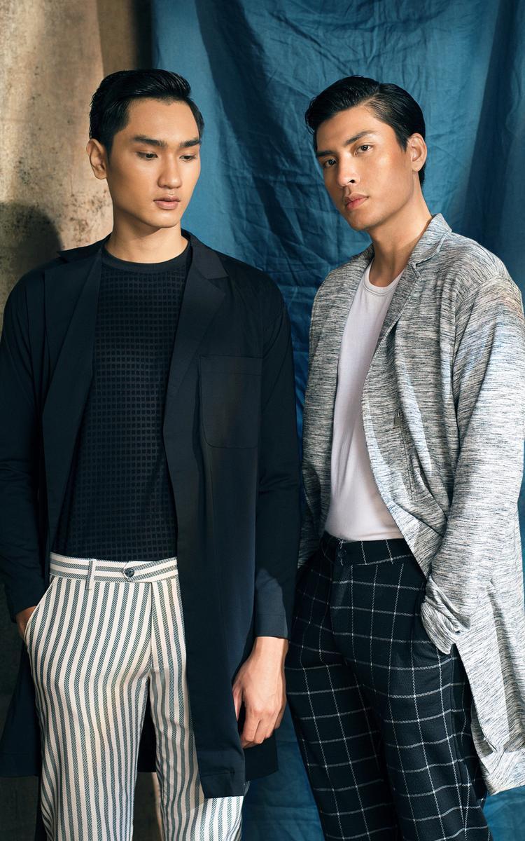 Không chỉ bó hẹp trong khuôn khổ những chiếc áo sơ mi, NTK Trần Minh Dũng đã giới thiệu những chiếc blazer hoặc quần tây nhẹ mát trẻ trung, đơn giản mà vẫn thanh lịch hơn bao giờ hết.