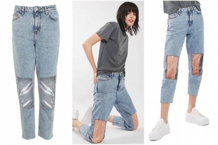 """Chiếc quần jeans """"ô cửa sổ""""…"""