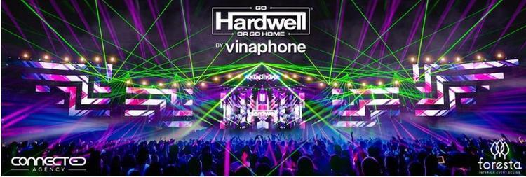 Thiết kế sân khấu, đèn và ánh sáng vẫn được giữ nguyên theo concept của Hardwell.