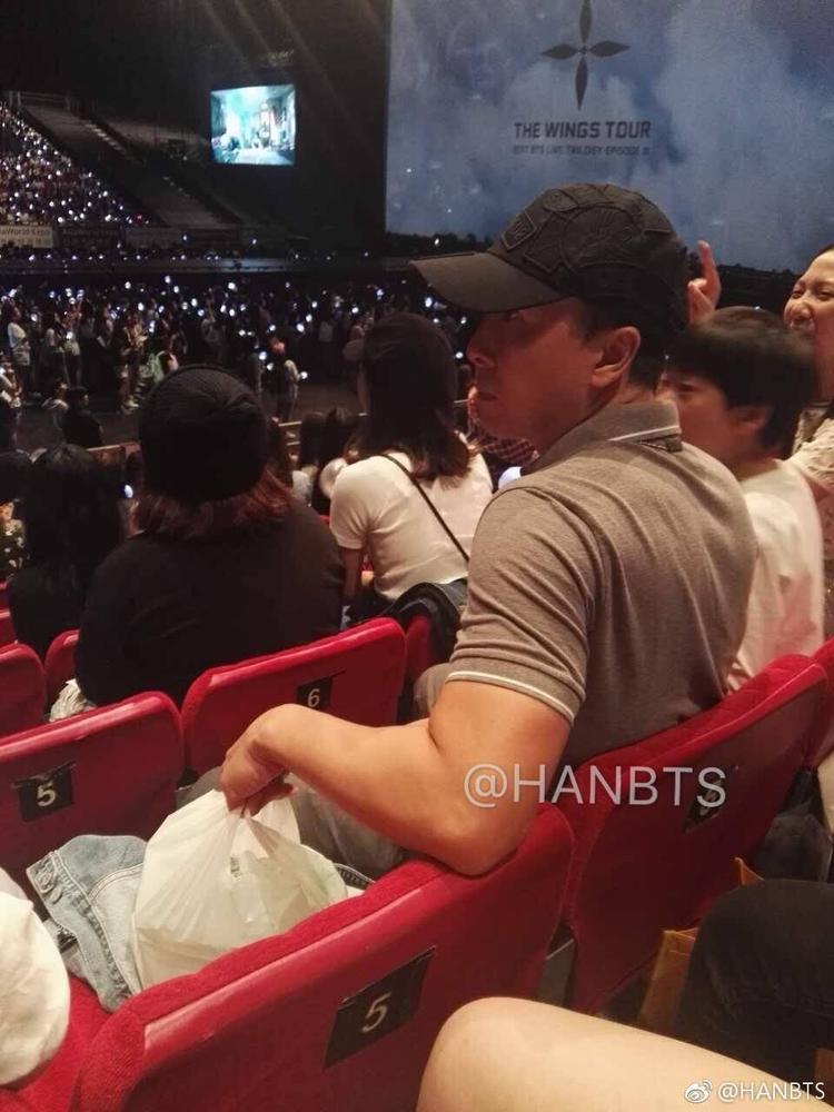 Chân Tử Đan tại concert của BTS hôm 13/5.