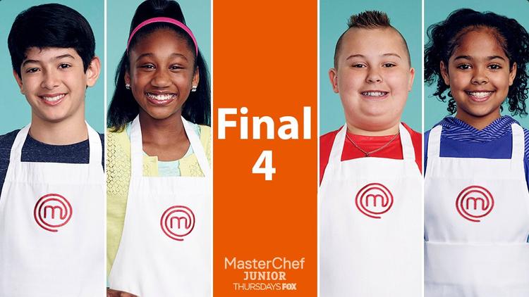 Top 4 chung cuộc trước khi vào chung kết. (từ trái sang) Adam, Jasmine, Shayne và Justise.