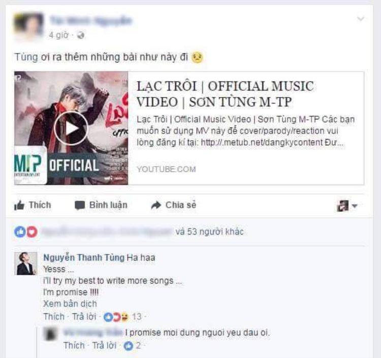 """Sơn Tùng bị """"bắt bẻ"""" khi viết tiếng Anh sai."""