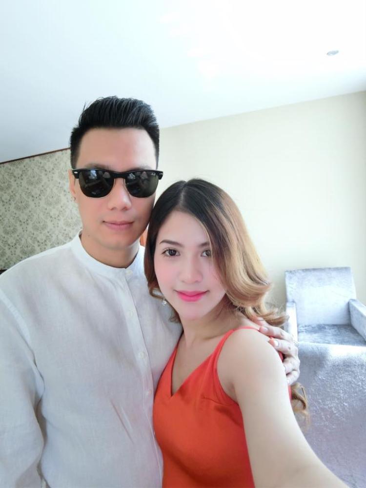 Diễn viên Việt Anh và bà xã Trần Hương.