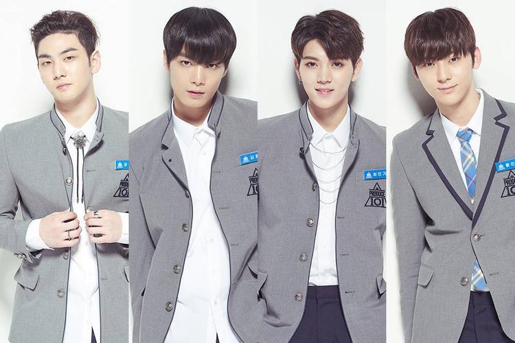4 thành viên Nu'est trong chương trình Produce 101.