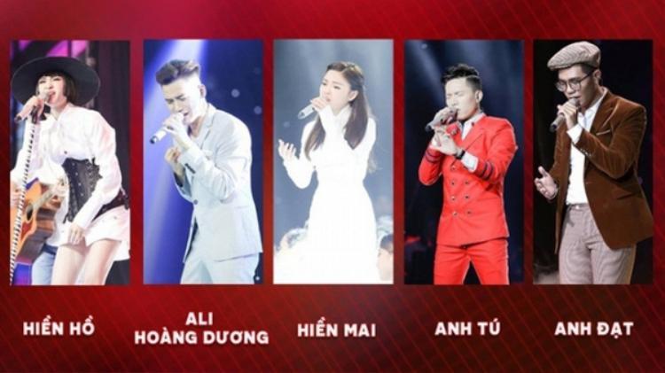Top 5 gương mặt sáng giá của Chung kết Giọng hát Việt 2017