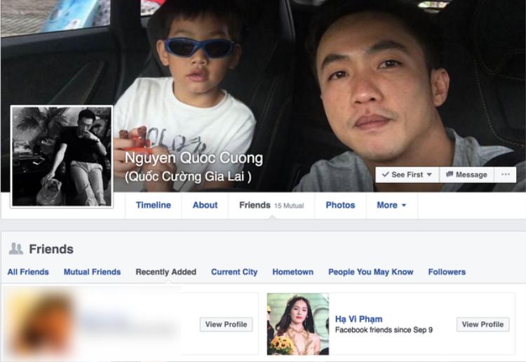 Ngày 9/9/2016, Cường Đô La và Hạ Vi kết bạn trở lại với nhau trên Facebook.