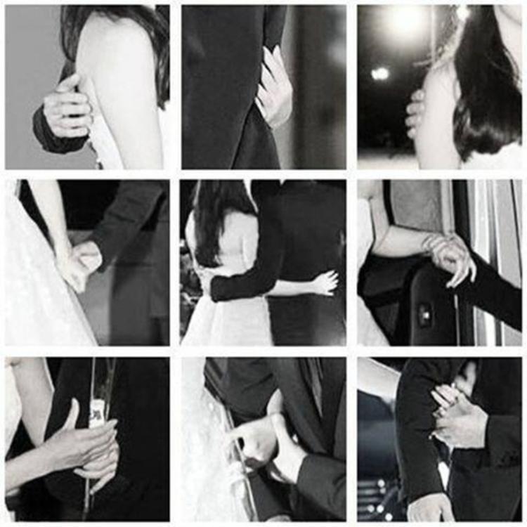 Những cái nắm tay, ôm eo và chạm vai thân mật trên mức bình thường của cả hai.