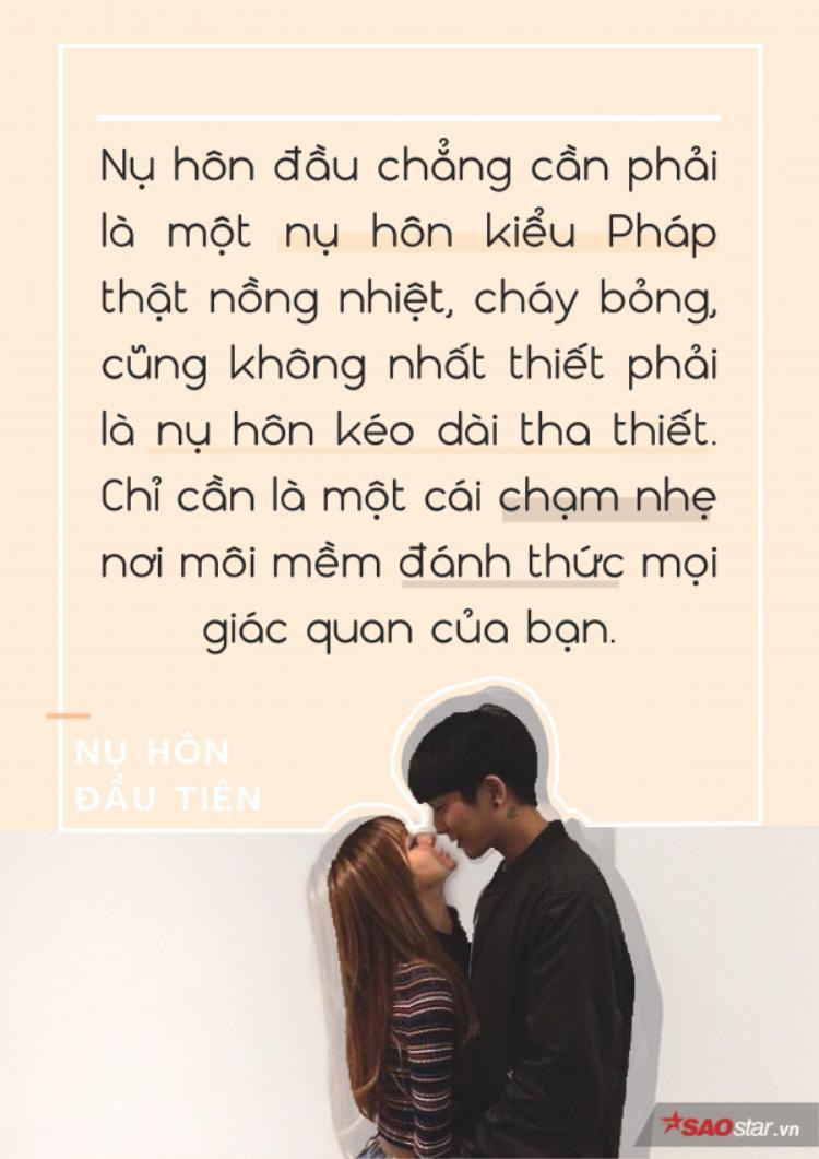 Nụ hôn đầu tiên của bạn như thế nào?