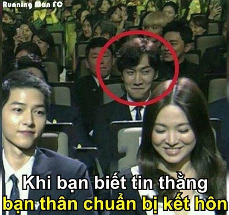 Những hình ảnh của Lee Kwang Soo liên tục được các fan đem ra chế.