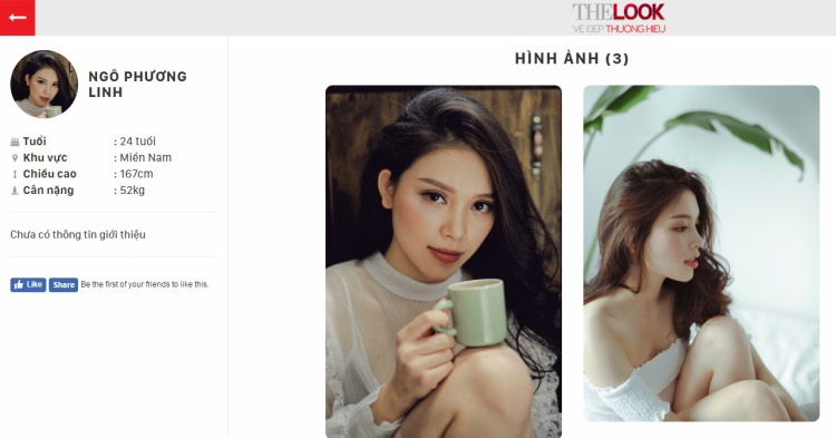 Profile dự thi của Linh Rin tại The Look Online 2017