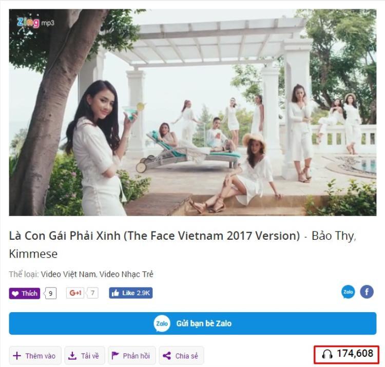 Trên Zing.mp3, lượt view của MV phiên bản The Face đã xuất sắc vượt qua MV nguyên bản