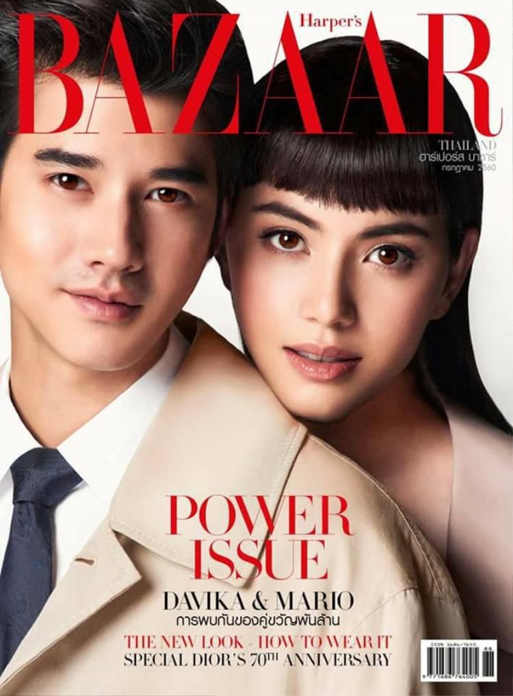Hình ảnh mới nhất của Mario và Mai trên tạp chí Bazaar Thái.