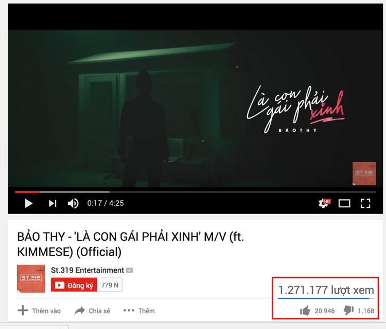 MV chính thức với 1,2 triệu lượt xem.