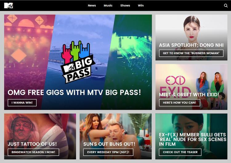 Clip giới thiệu về Đông Nhi xuất hiện ở trang chủ MTV Asia.