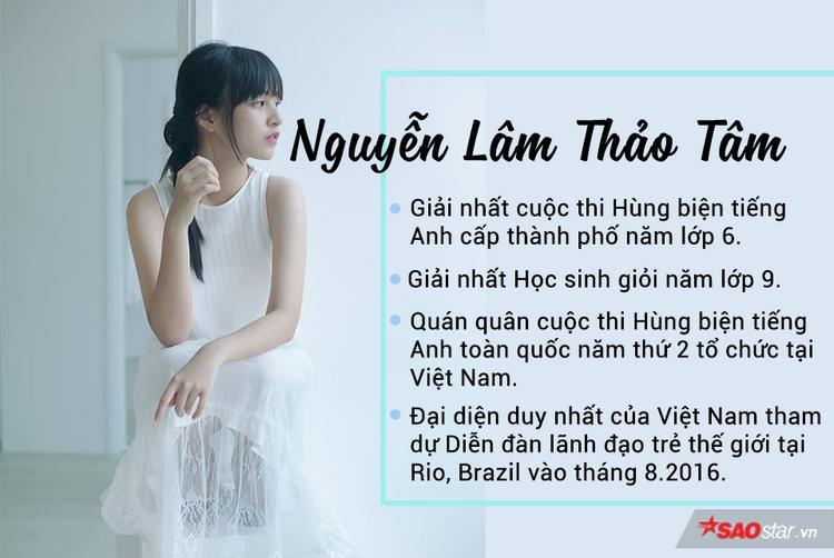 Cô bạn Nguyễn Lâm Thảo Tâm, sinh năm 2000, với những thành tích mà ai cũng ngưỡng mộ.