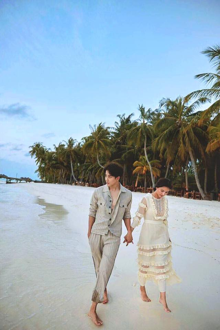 Thiên đường Maldives, nơi Mike và Aom thực hiện bộ ảnh.