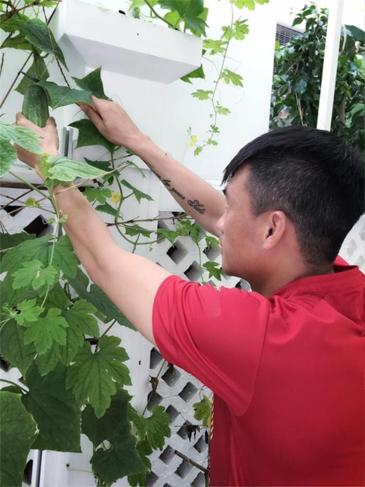Công Vinh luôn được mọi người ngưỡng mộ khi anh là mẫu người đàn ông rất chăm lo cho gia đình. Anh tự tay trồng rau, dọn dẹp nhà phụ vợ và luôn sắp xếp thời gian dành cho vợ con.