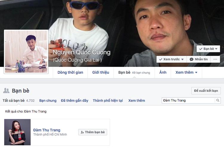 Cả hai có kết bạn Facebook với nhau.