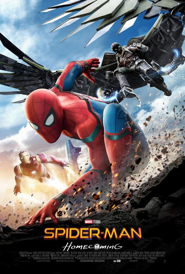Spider-man: Homecomingdẫn đầu doanh thu phòng vé Bắc Mỹ.