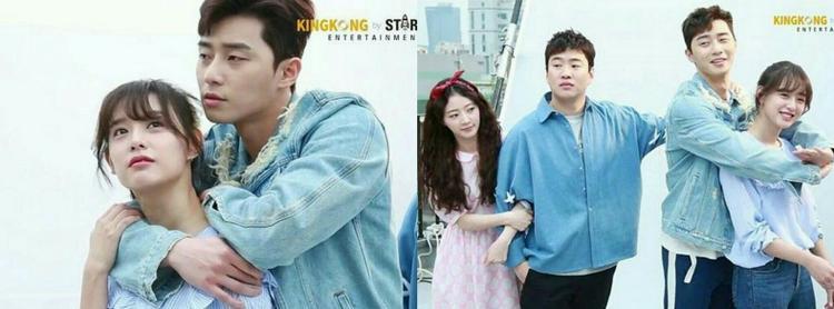 """Với chiều cao lí tưởng 1m85, Park Seo Joon chẳng cần ăn vận màu mè mà vẫn khiến các fan """"đổ rầm rầm"""". Công thức quần sọc thể thao và áo thun được anh áp dụng dài dài, cùng lắm là bonus thêm khoác jeans bụi bặm."""