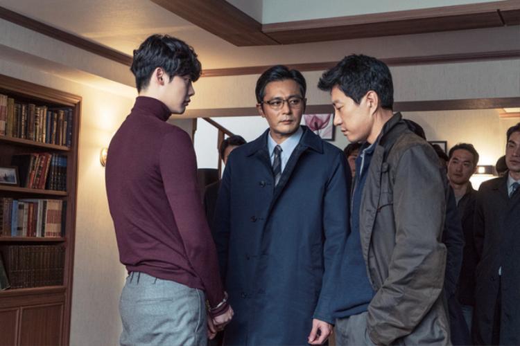 Hình ảnh Lee Jong Suk cùng các ngôi sao điện ảnh lão làng.