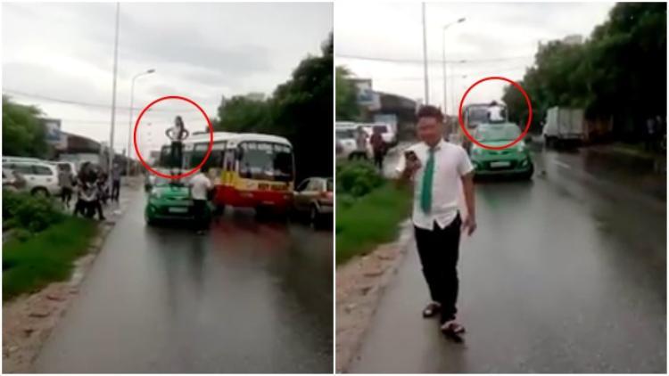 Ngáo đá, một cô gái trẻ bị tài xế taxi hành hung vì phá hoại tài sản