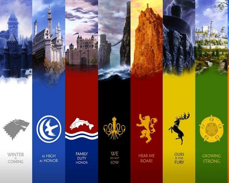 Các gia tộc thống trị Westeros.