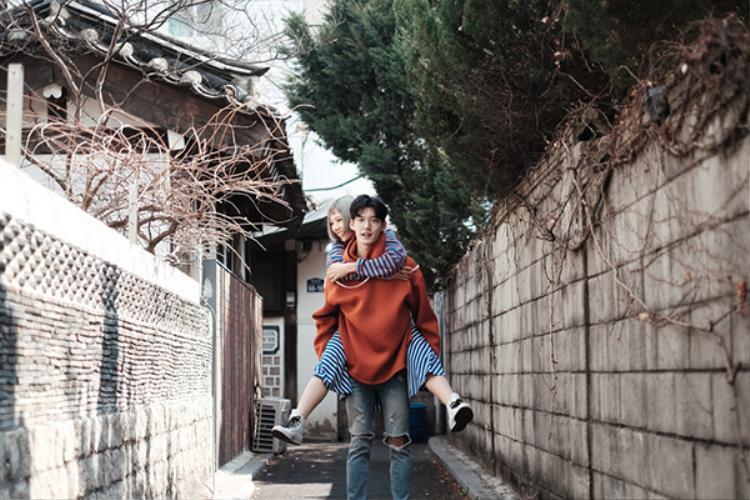 Min hạnh phúc Hôn anh trong MV mới khi có happy-ending với soái ca xứ Hàn