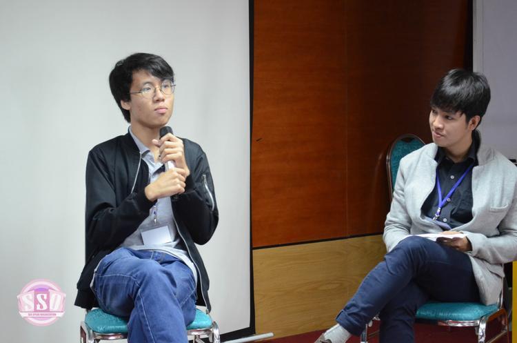 Ngô Xuân Khôi trong hội thảo bình đẳng giới.