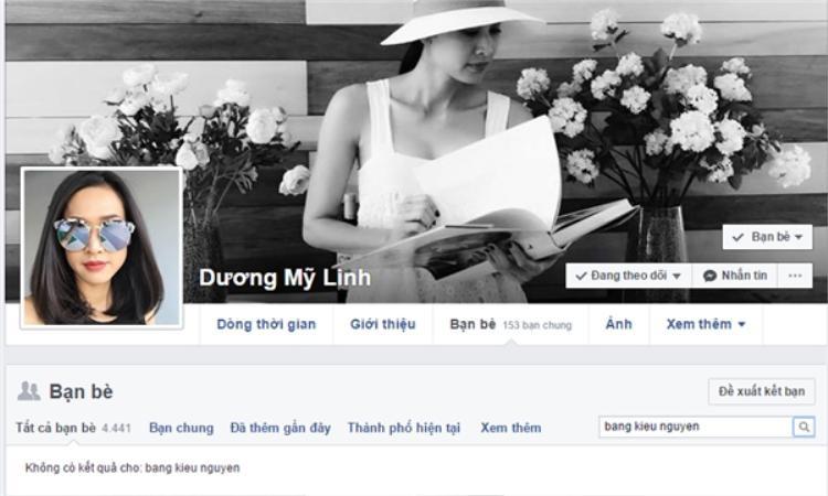 Bằng Kiều - Dương Mỹ Linh đã không còn là bạn bè của nhau trên mạng xã hội.