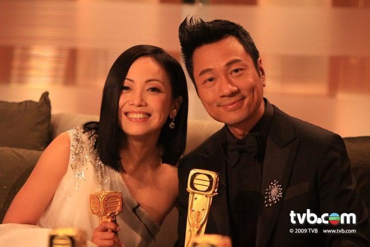 Đặng Tụy Văn và Lê Diệu Tường trong Lễ trao giải TVB 2009