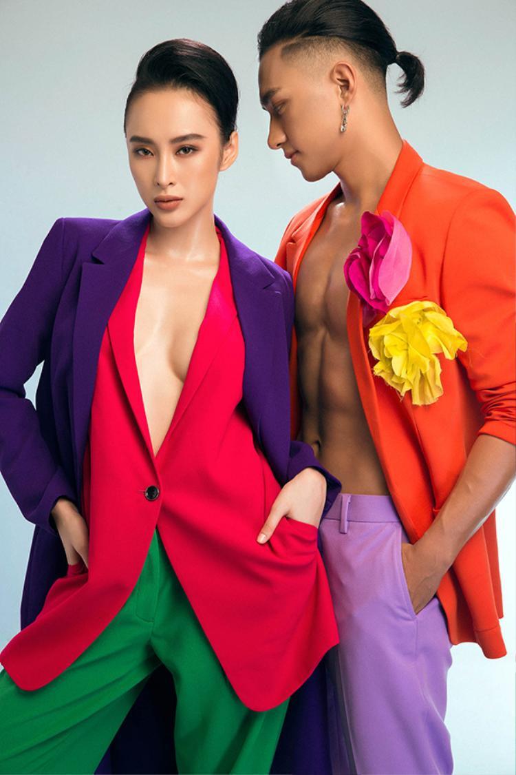 Angela Phương Trinh diện loạt đồ theo phong cách menswear, hóa cool ngầu không kém cạnh chàng host của The Face 2017.